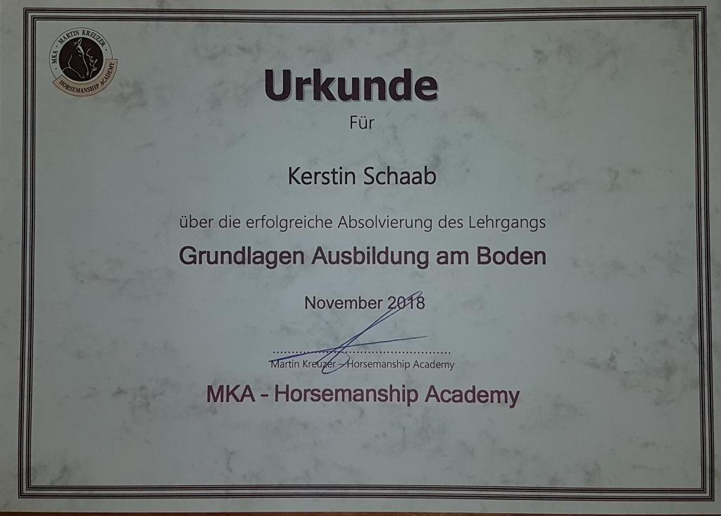 MKA Zertifikat